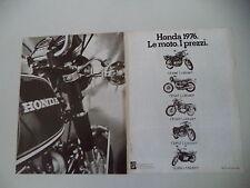 advertising Pubblicità 1976 MOTO HONDA CB 400 F FOUR/500 T/500 F/750 F/GL 1000