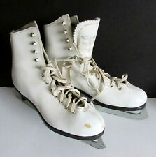 Ice Skates Girl's Pre Owned Figure Skating White Leather Dominion Free Sh
