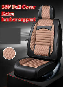 Brown PU Leather Car Seat Covers for Hyundai i30 ix35 Tucson Elantra Santa Fe