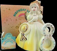 Josef Originals Birthday Girls Angel Figurine Age 8 Vintage Applause 651641