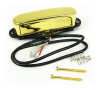 Gold Enclosed Single-Coil Magnetic Pickup for Electric Guitar & More