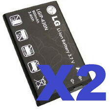 2x OEM LG LGIP-430N Battery GS390 Prime GU295 Imprint LN240 Remarq LX370 Wine II