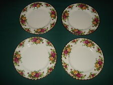 "4 BEAUTIFUL ROYAL ALBERT OLD COUNTRY ROSES OCR 8"" DESSERT/SALAD PLATE- GOLD TRIM"