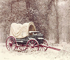"""Chuck Wagon in the Snow"" James Bama Anniversary Edition Giclee Canvas"