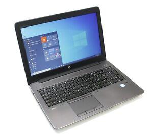 "HP ZBook 15 G3 Core i7-6820HQ 2.7GHz 16GB 256GB SSD NVMe Win10 M1000M 15.6"""