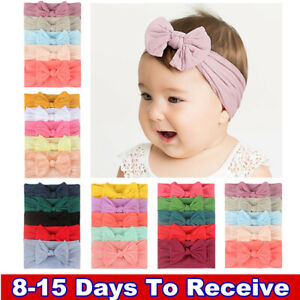 5pcs/Set Baby Kids Girls Bowknot Headband Toddler Elastic Hair Band Headwear Bow