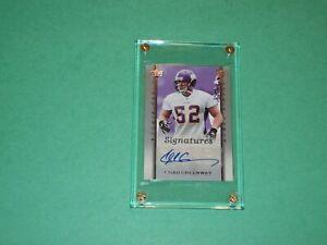 Chad Greenway Auto Card 2006 Upper Deck Rookie Debut Minnesota Vikings Football!