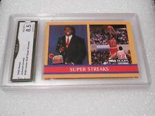 Michael Jordan / Magic GRADED CARD! 1990 Hoops #385 Chicago Bulls HOFer! 8.5-1!
