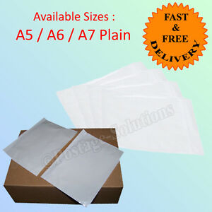 DOCUMENTS ENCLOSED PLAIN WALLETS ENVELOPE A5 A6 A7 Sizes Branded Good quality