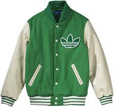 Adidas Originals para hombre Nigo Varsity Chaqueta Tamaño L Verde/Crema 80% Lana BNWT