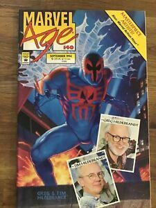 Marvel Age 140 Spider-Man 2099 Flip Cover Greg & Tim Hildebrandt Final Issue
