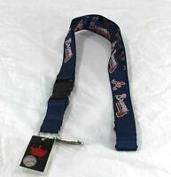 MLB Atlanta Braves Blue Lanyard Key Chain W/ Detachable Buckle