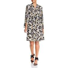 Kenneth Cole New York Womens Camouflage Mini Wrap Dress BHFO 4981