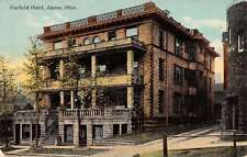 Akron Ohio Garfield Hotel Street View Antique Postcard K28245