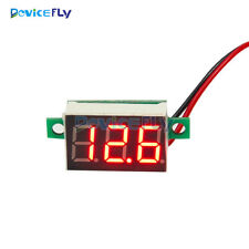 5PCS Mini Red LED Panel Voltage Meter 3-Digital Adjustment Voltmeter DC 4.7~32V