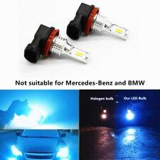 2x 55W H11 H8 H9 CSP LED Lamps Fog Lights Driving DRL Bulbs 8000K Ice Blue US