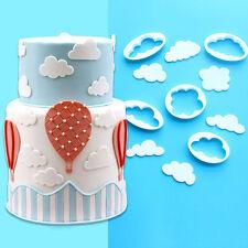5pcs/set Cloud Fondant SugarCraft Cake Cookie Cutter Plunger Pastry Mold plastic