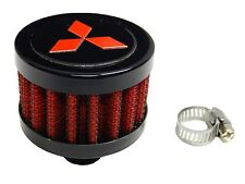 MITSUBISHI DIAMOND JDM 9MM RACING MINI AIR OIL BREATHER FILTER - RED RD