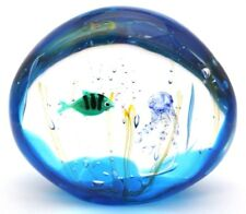 Beautiful MURANO Elio RAFFAELI Fish Jellyfish AQUARIUM Art Glass SCULPTURE