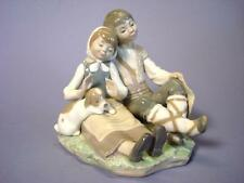 Lladro Porcelain Friendship Boy + Girl + Dog Figurine #1230 Spain