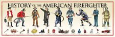 History of the American Firefighter Print 36x11.75