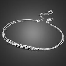 Charm Solid Sterling SilverBell Pendant Snake Chain Lady's Anklet Sb133