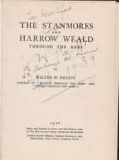 STANMORES &  HARROW  WEALD  W  W  DRUETT   1ST EDIT   1938  ( SIGNED )