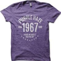 Purple Haze 1967 JImmy Hendrix inspired cotton t-shirt 9030