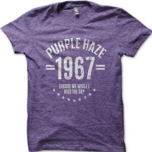 Purple Haze 1967 JImmy Hendrix inspired cotton printed t-shirt 9030