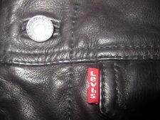 Levi's Buffalo Leather Trucker Jacket, Men's Small