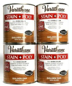 4 Varathane Stain Poly Rich Even Color Golden Oak Semi Gloss 32 oz