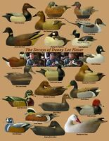 The Decoys Of Danny Lee Heuer Duck Decoy Signed Poster Giclee Archival Edition