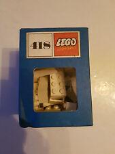 Lego System 418 60/70´er Jahre 21 x 2x4 Steine weiss original Karton