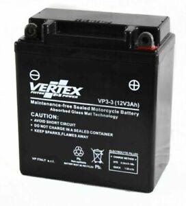 Vertex Battery VP3-3 Replaces YB3L-A, CB3L-A, LB3L-A