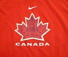 NIKE CANADA CANADIAN ADULT MEDIUM RED LONG SLEEVE SHIRT STANDARD FIT FREE SHIP