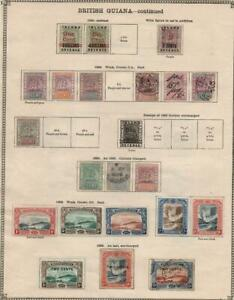 BRITISH GUIANA: 1876-1899 - Ex-Old Time Collection - 2 Sides Page (39841)