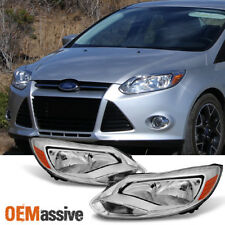 2012 2013 2014 Ford Focus Left + Right Side Headlights Head Lamps Assembly Pair