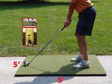 """5'x5'  Duffer™ Commercial Golf Mat 1.25"""" thick made 4 golf - no cheap white foam"""