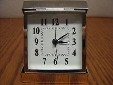 Hallmark Quartz Silver Plated Travel Alarm Clock