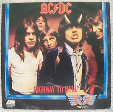 "AC/DC ""HIGHWAY TO HELL"" 45GG 7"" RARE ITALIAN EDITION INCL COVER ATLANTIC W11321"