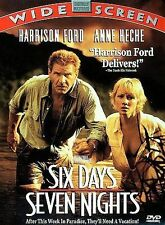 Six Days, Seven Nights (DVD 1998) Harrison Ford, Anne Heche, FAST FREE Shipping!