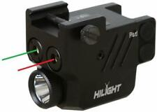 HiLight P3RGL 500lm Pistol Flashlight Red Green Laser Sight Combo for Subcompact