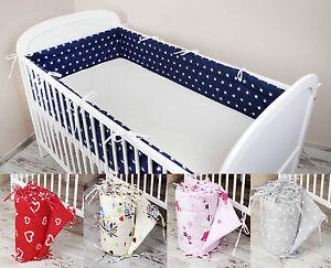 Bettumrandung Nestchen Kopfschutz 420x30, 360, 180 Bettnestchen Babybett Baby