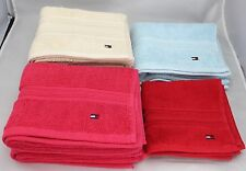 219 Tommy Hilfiger 8 Pc  Towel Set 100% Cotton Bath Hand Multi Color