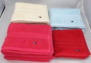 Tommy Hilfiger 8 Pc  Towel Set 100% Cotton Bath Hand Multi Color