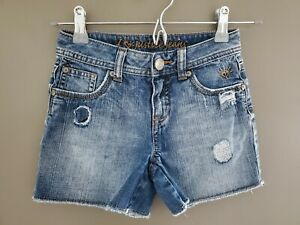 Girls Justice Shorts Distressed Jean Shorts Size 8 Regular