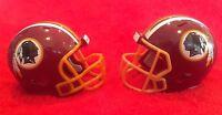 Riddell Pocket Pro football helmet lot of 2 Washington Redskins Rev &speed style