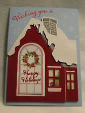 Paper Magic Handmade - Holiday House - Christmas Greeting Card - NEW