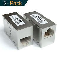 2 Stück CAT6 RJ45 Ethernet Lan Kabel Kupplung Netzwerk Patchkabel DSL Adapter