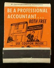 Be A Professional Accountant From Home Front Strike Matchbook